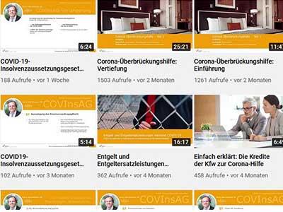 Steuerrechtliche Informationen zur Corona Krise Informationsvideos