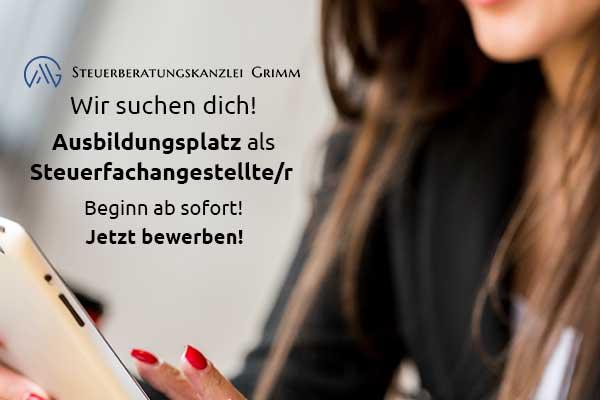 Freier Ausbildungsplatz Steuerfachangestellten m-w-d 2021 in Rodgau bei der StB Grimm